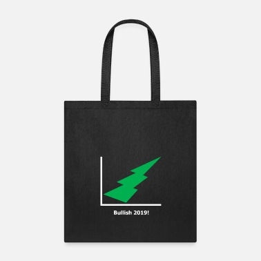 Lightning Bolt Stock Market - Bullish 2019 - green - black - Tote Bag