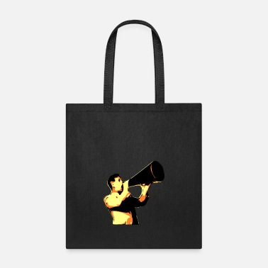 Yell man yelling - Tote Bag