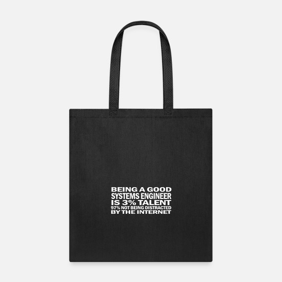 Engineer Bags & Backpacks - systems engineer - Tote Bag black