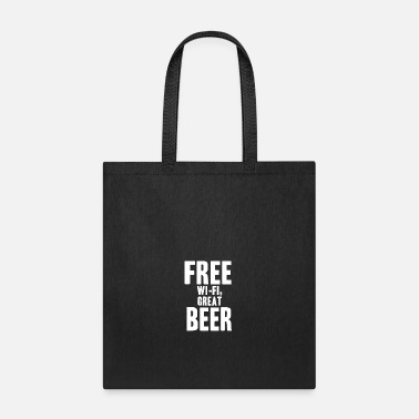 Free Beer Free Beer Wifi gift idea prank - Tote Bag