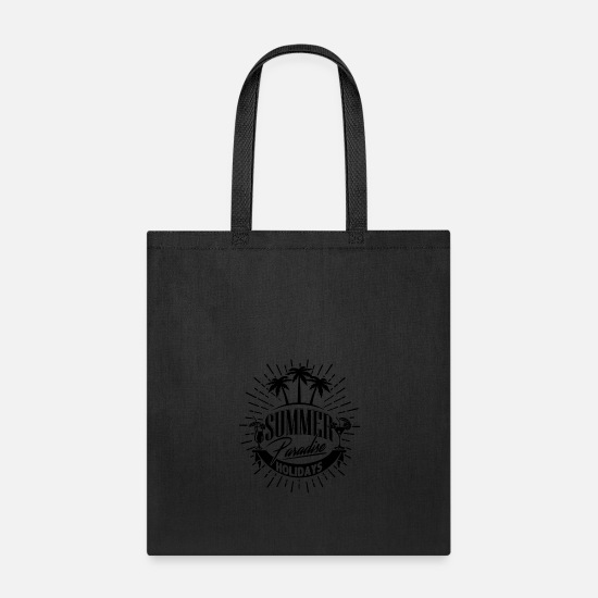 Waves Bags & Backpacks - Summer vacation - Tote Bag black