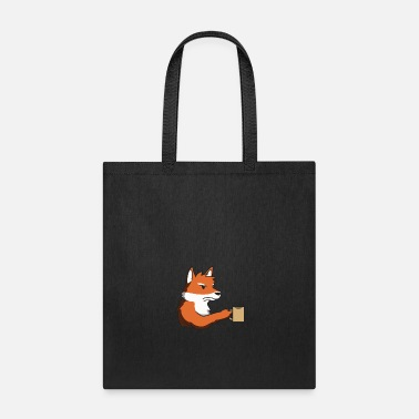 Grumpy In The Morning Fox grumpy morning gift idea coffee funny animal - Tote Bag