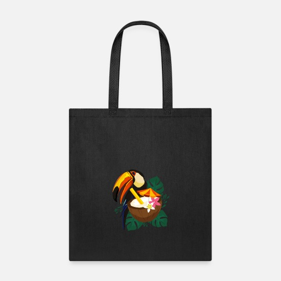 Tropical Bags & Backpacks - Tropical Toucan - Tote Bag black