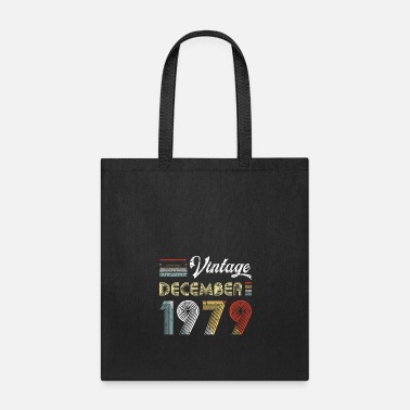 40s Vintage December 1979 40th Birthday Retro Style - Tote Bag