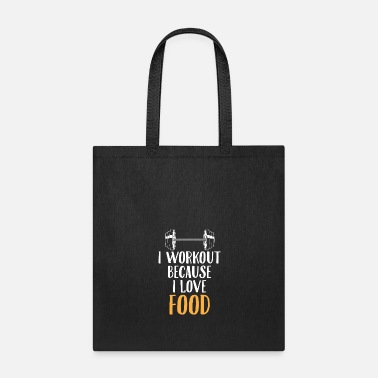 Exercise Love Food Gym Workout Foodie Funny Gift - Tote Bag