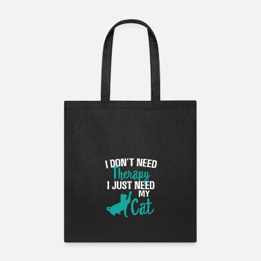 World Cat Therapy Pet Funny Gift - Tote Bag