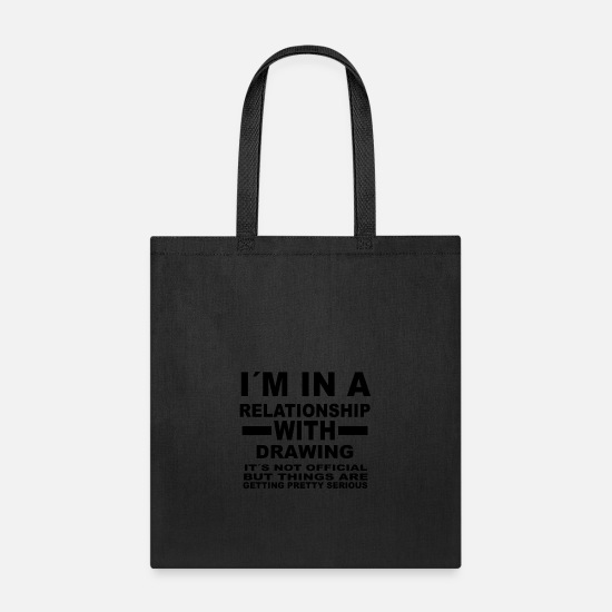 Love Bags & Backpacks - relationship with DRAWING - Tote Bag black