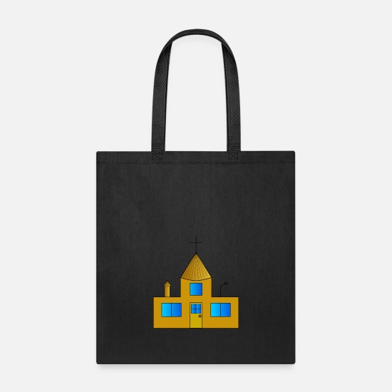 Country Bags & Backpacks - building house homes architektur haus gebaeude98 - Tote Bag black