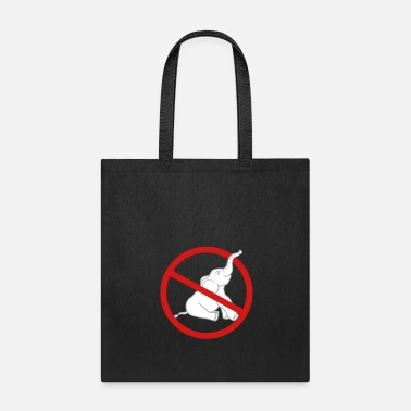 Prohibited no zone prohibited elephant small sitting cute cut - Tote Bag