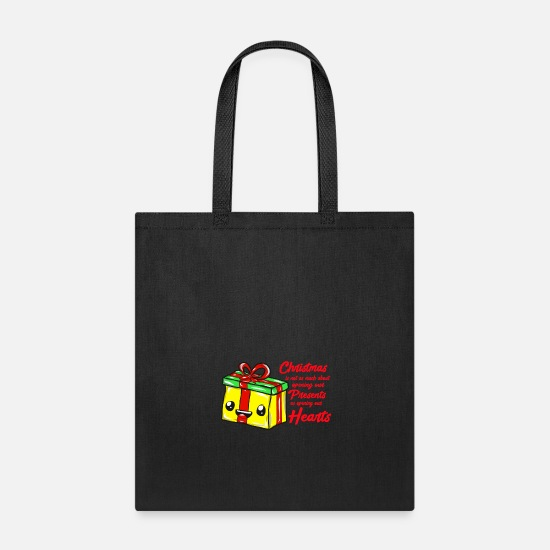 Snowman Bags & Backpacks - Christmas present - Tote Bag black