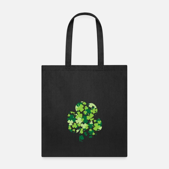 Shamrock Bags & Backpacks - shamrock - Tote Bag black