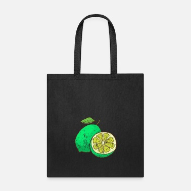 Healthy Retro Vintage Grunge Style Lime - Tote Bag