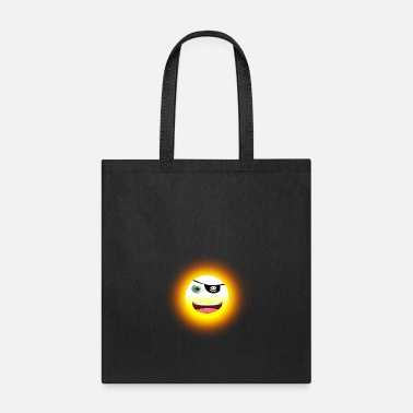 Pirate Bay yellow laughing sun with pirate eye patch - Tote Bag