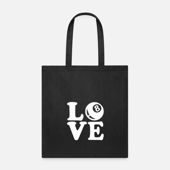 8 Ball Bags & Backpacks - love the win - Tote Bag black
