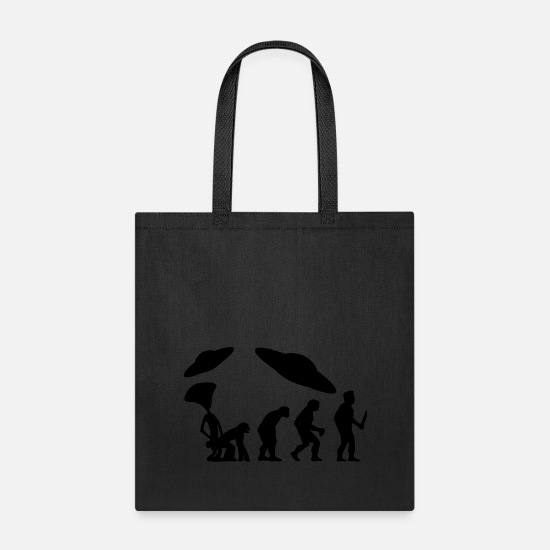 Saucer Bags & Backpacks - EVOLUTION the real evolution - Tote Bag black