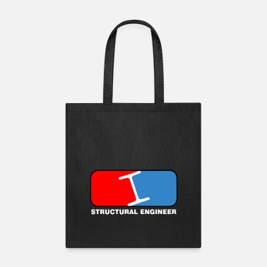 Structural Engineer Structural Engineer League White Text - Tote Bag