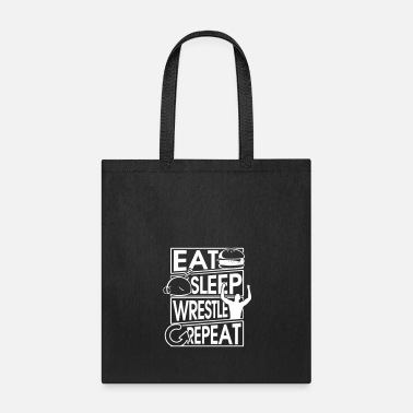 B Day Eat Sleep Wrestle Repeat Wrestling Gift - Tote Bag