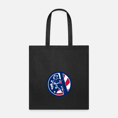 American Icon American Lineworker USA Flag Icon - Tote Bag