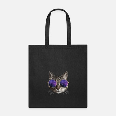 Galaxy Cute & Funny Cat wearing Sunglasses for Cat Lovers - Tote Bag