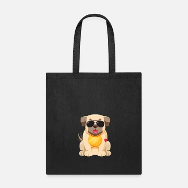 Modernist Flat pug with modern style - Tote Bag