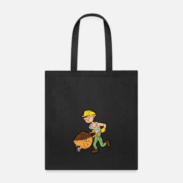 Masonic Retro Vintage Grunge Style Construction Worker - Tote Bag