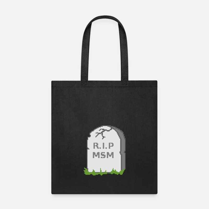 Msm Bags Backpacks R I P Tote Bag Black