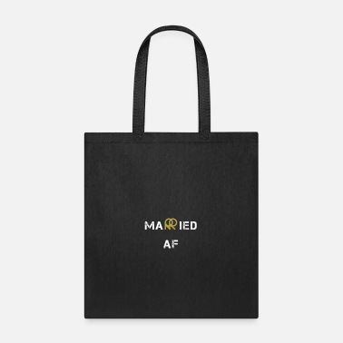 V Neck Couple married af - Tote Bag