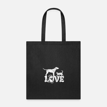 Nurse Love veterinarian shirt with dog and cat as a gift - Tote Bag