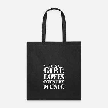 Dixieland THIS GIRL LOVES COUNTRY MUSIC - Tote Bag