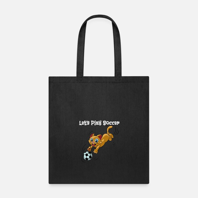 Soccer Bags Backpacks Funny Cat Sports Let S Play With Tote Bag