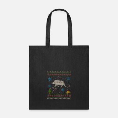 Wild Wild Hog Hunting Christmas Ugly Sweater Wild Pig Boar - Tote Bag