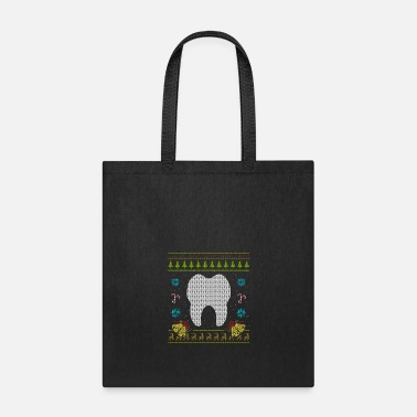 Dental Dental Christmas Ugly Sweater Dental Hygenist Dentist - Tote Bag