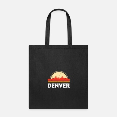 Classic Retro Denver City Skyline Vintage Shirt - Tote Bag