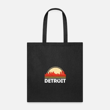 Classic Retro Detroit City Skyline Vintage Shirt - Tote Bag