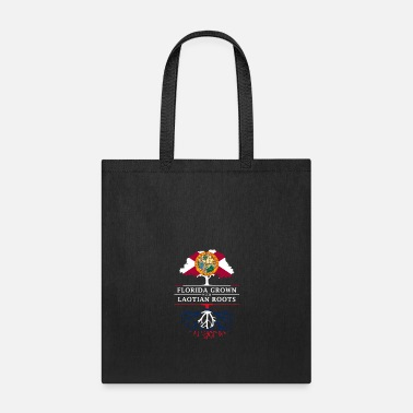 Patriot Florida Grown with Laotian Roots Design - Tote Bag
