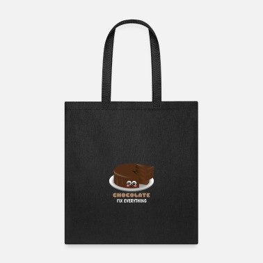 Hilarious Chocolate Fix Everything Funny Chocolate Pun - Tote Bag
