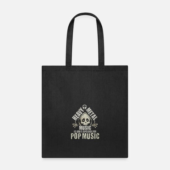 Death Bags & Backpacks - Heavy Metal Music God's Apology for Pop Music - Tote Bag black
