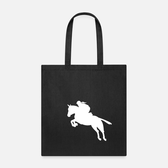 Equestrian Sports Bags & Backpacks - show jumping equestrian - Tote Bag black