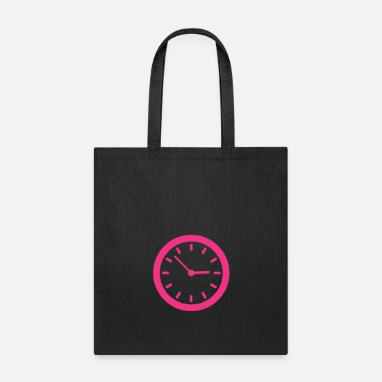 Timekeeper Bags & Backpacks - Clock - Tote Bag black