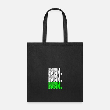 Running run run run neongreen - Tote Bag