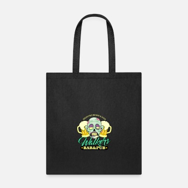 Bar Pub Zombie Walkers Bar and Pub Beer Halloween - Tote Bag