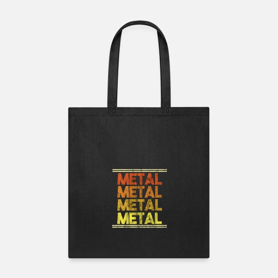 Birthday Bags & Backpacks - Metal Music Shirt - Gift - Tote Bag black