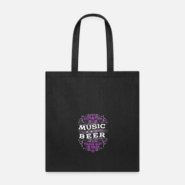 Music Country Music and Beer Gift - Tote Bag