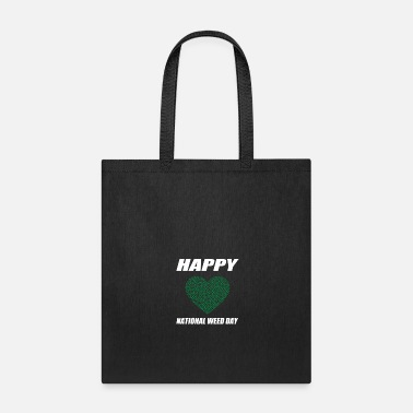 Paper Heart Happy National Weed Day - Tote Bag