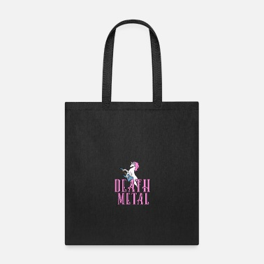 Heavy Death Metal Unicorn Rainbow Shirt Heavy Metal Gift - Tote Bag