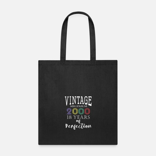 Retro Vintage 2000 Years To Perfection 18th Birthday Gift Tote Bag