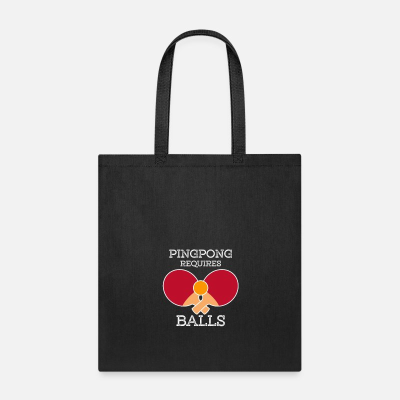 Ping Bags Backpacks Pong Requires Balls Tote Bag Black