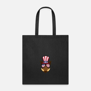 Warthog Warthog Happy 4th Of July - Tote Bag