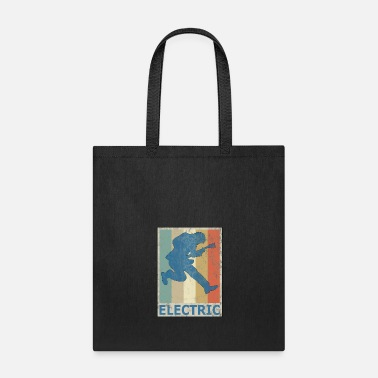Dj &amp Retro Vitage Style Electric Guitar Player Bass - Tote Bag