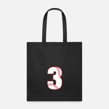 Number Birthday baseball number 3 three boy girl - Tote Bag